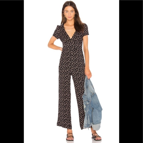 NWT Free People Black Mia Jumpsuit